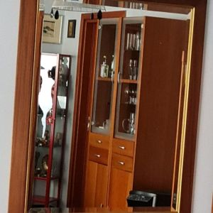 Καθρέφτης μπιζουτέ με κορνίζα κερασιά και χρυσή πατούρα ΤΙΜΗ ΣΥΖΗΤΗΣΙΜΗ