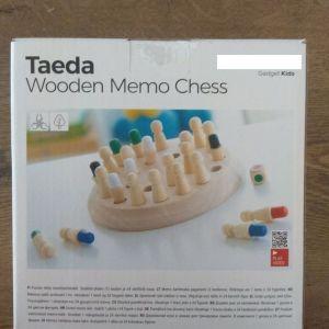 Ξύλινο Σκάκι Mνήμης Taeda InnovaGoods 26 τεμάχια