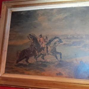 συλλεκτικός πίνακας έποχης 1860.ντελακρουα...ανριγραφο Ο γνήσιος είναι σε μουσιο