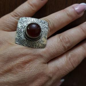 δαχτυλίδι χειροποίητο με πολύτιμες πέτρες