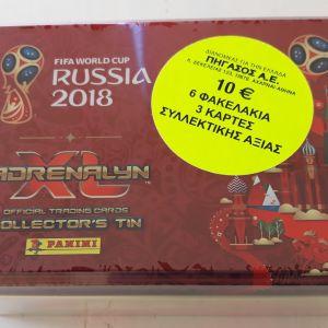 Panini / Collector' s tin case FIFA WORLD CUP 2018 Adrenalyn XL