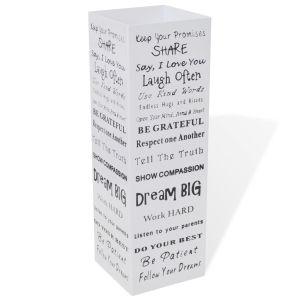 Ομπρελοθήκη Τετράγωνη / Σταντ για Μπαστούνια Λευκή 48,5 εκ. Ατσάλινη-242471