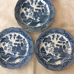 3 πιάτα 18 εκ. Blue Willow - Belgium