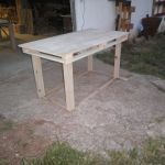 Τραπέζι μεγάλο από ξύλο παλέτας