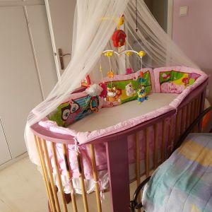 Κούνια-κρεβάτιπου μετατρέπεταιαποβρεφικό σε παιδικό