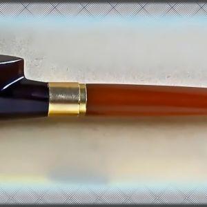 Πίπα για τσιγάρο, σπάνια από Κεχριμπάρι Βαλτικής, επίχρυση (1935-45)