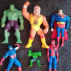 Hulk-Captain america-Spider man - Super man-