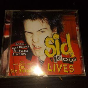 SID VICIOUS LIVES - SEX PISTOLS LIVE 13 TRACK CD ALUM - PUNK ROCK