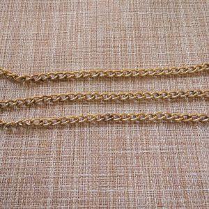 Μεταλλική αλυσίδα, μήκος -90 εκ., παχος- 6 mm. χρυσό.