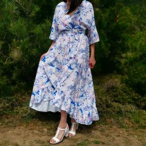 maxi σατέν φορεμα