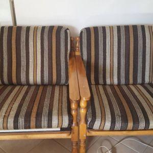 Σετ 2 πολυθρόνες και διθέσιος καναπές