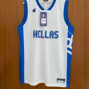 Φανέλα Εμφάνιση Εθνικής Ελλάδος Μπάσκετ Champion μέγεθος XXL - XL άθικτη