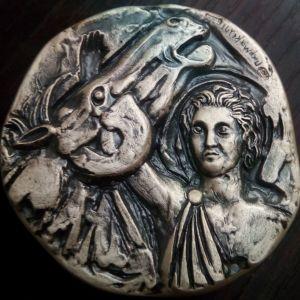 Ο Μ.Αλεξανδρος Δαμαζει τον Βουκεφαλα  .999 SILVER