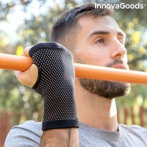 Βραχιολάκι Συγκράτησης από Χάλκινα και Μπαμπού Νήματα και Μπαμπού Ξυλάνθρακα Wristcare InnovaGoods, S/M, L/XL