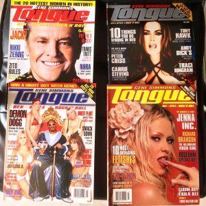 GENE SIMMONS  (KISS)  ''Tongue'' Magazine