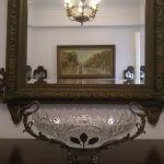 Κρύσταλλο Γόνδολα Παλαια Αντίκα με Μπρούτζινες Λεπτομέρειες στη βάση του! Μήκος:42εκ Πλάτος:19εκ