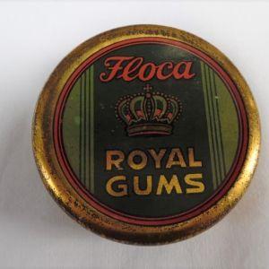 Συλλεκτικό τσίγκινο κουτί  ROYAL GUMS της εταιρίας Floca της δεκαετίας του '30.