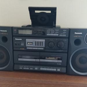 Ηχοσύστημα Panasonic RX DT 680. Διπλό κασετόφωνο auto  reverse, ραδιόφωνο, και CD player.