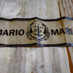 ΣΤΑΜΠΑ ΘΕΡΜΟΚΟΛΛΗΤΙΚΗ *MARIO N & F*. Καινουργιο.