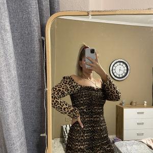 Λεοπάρ φόρεμα γκοφρέ One size