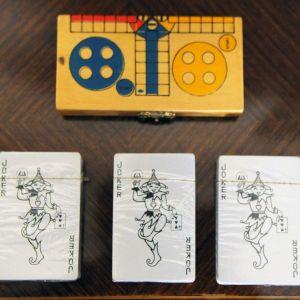 Επιτραπέζιο παιχνίδι Ludo και 3 σφραγισμένες τράπουλες