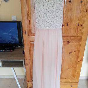 ροζ φόρεμα για γάμο και βάπτιση νούμερο (one size)
