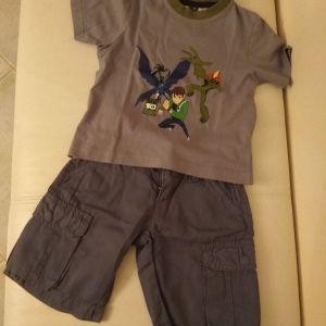 Σετ βερμούδα-μπλούζα 3-4years