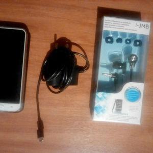 Samsung j3 2016 με θήκη+φορτιστής+ακουστικά