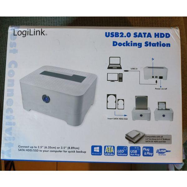 LogiLink QP0015 Docking Station skliron diskon HDD USB 2.0 SATA