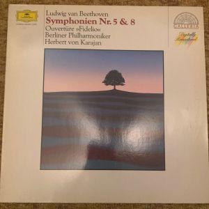 Beethoven Symponien Nr 5 & 8 Deutsche grammophon made in West Germany
