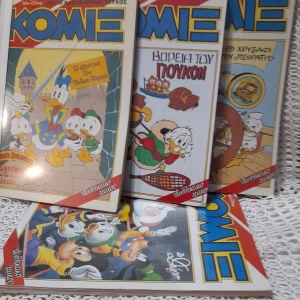 6 τεύχη Κομιξ Disney  δεμένα σε τομάκια