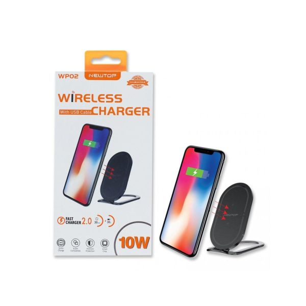 24e NEWTOP WP02 WIRELESS FASTCHARGER NERO