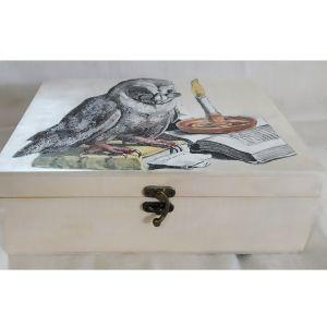 Ξύλινο κουτί αποθήκευσης με εικόνα