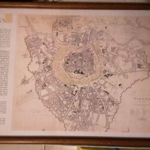 Πίνακας (κάδρο) Πολεοδομικό σχέδιο Βιέννης μεσαίωνα
