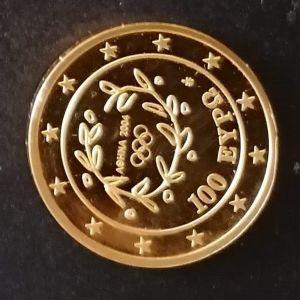 Χρυσό Συλλεκτικό μετάλλιο λαμπαδηδρομια θερινό ολυμπιακών αγώνων 2004