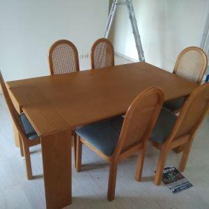 Τραπεζαρία πτυσσόμενη με 6 καρέκλες (Σιλβεστρίδη)