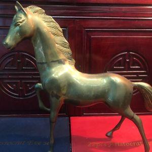Παλιά Αντίκα χειροποίητο επιδαπέδιο  μεγάλο άγαλμα αλόγου μπρούτζινο μασίφ πολύ βαρύ κομμάτι