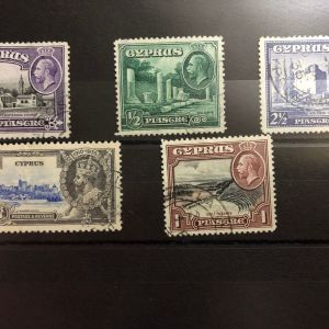 Cyprus Stamps - Issues of 1910/1936  - LOT WITH 5  STAMPS - USED