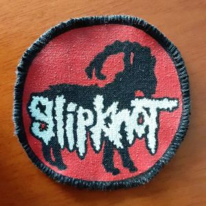 Slipknot patch, sew on (hand painted)
