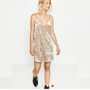Βελουτε φορεμα ΖARA μπεζ