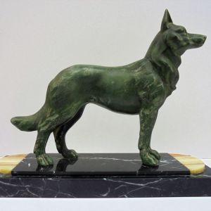 Άγαλμα σκύλου, γαλλικο, Art Deco, περίπου 100 ετών.