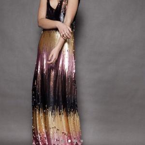 Nidodileda Vintage βραδινό φόρεμα με παγιέτα/ Nidodileda vintage multicolour sequin maxi dress