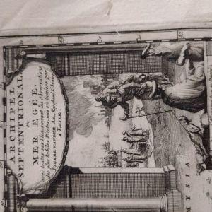 Παλαιός χάρτης Αιγαίου. Εκδοση περί το 1713.