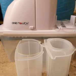 One Touch KC25 Automatic Battery Operated Mandoline Slicer with Interchangeable Blades