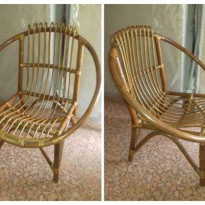 στρογγυλή πολυθρόνα bamboo