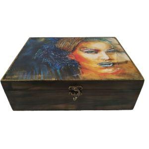 Ξύλινο κουτί αποθήκευσης ΓΥΝΑΙΚΑ