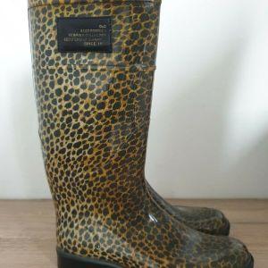 Dolce & Gabbana Leopard Rain Boots  Made in Italy Size 38 Αυθεντικα 100% Αφορετα! D&G D & G Dolce and Gabbana Γαλότσες