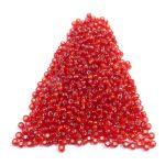 Γυάλινες χάντρες seed 4mm/9gr περίπου 100 χάντρες