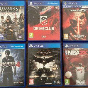 Playstation 4 Console - PS4  1TB SSD - PS4 Games - 2 Controllers
