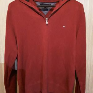 Ανδρικο κόκκινο πουλόβερ hilfiger